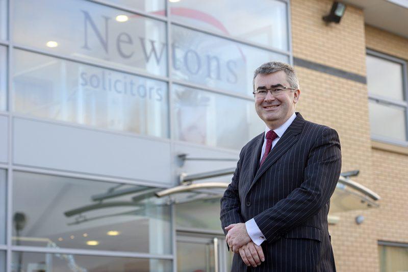 Chris Newton Outside Head Office in Knaresborough