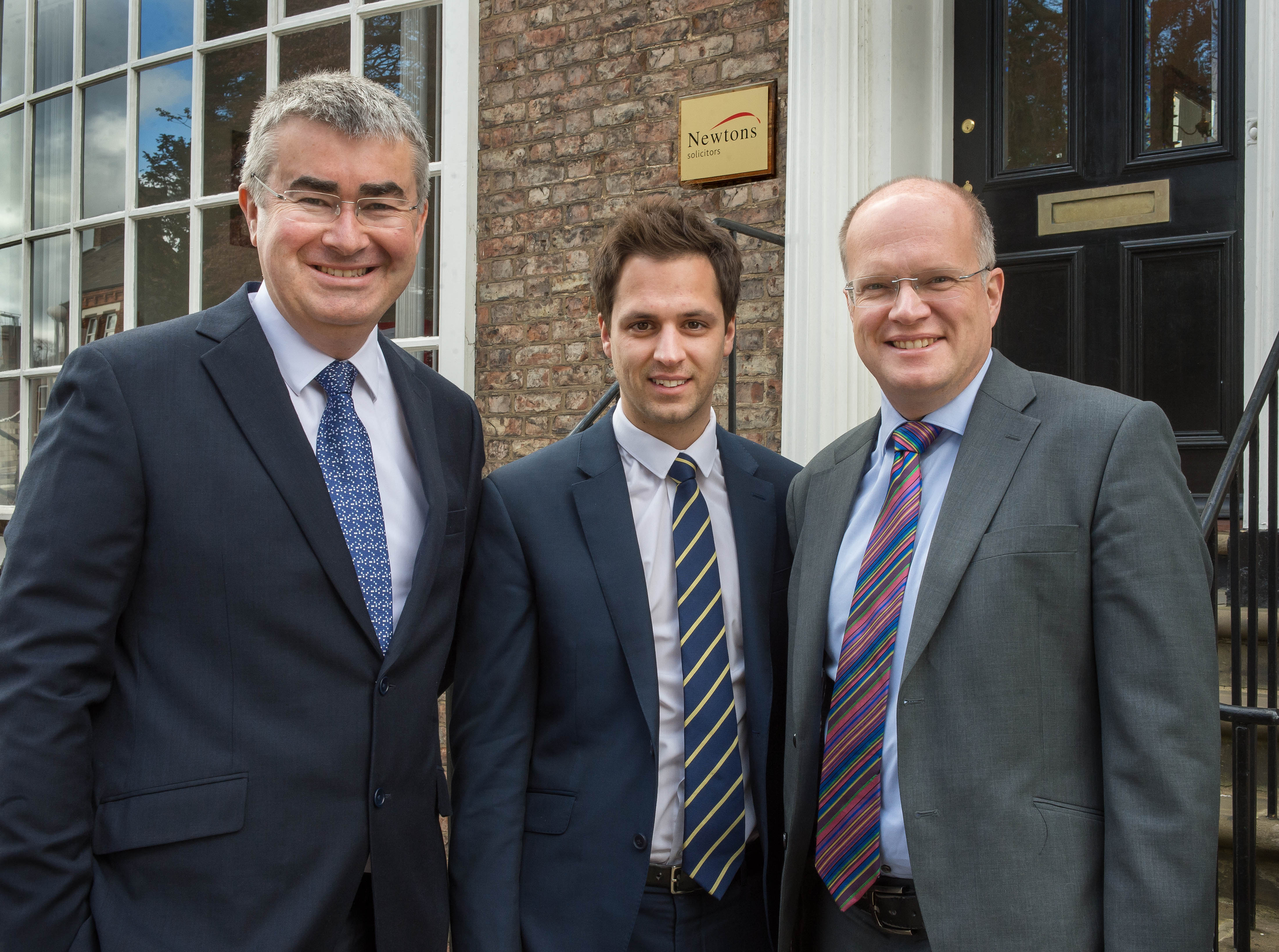 Chris Newton, Oliver Hebden and Paul Hargreaves of Newtons Solicitors