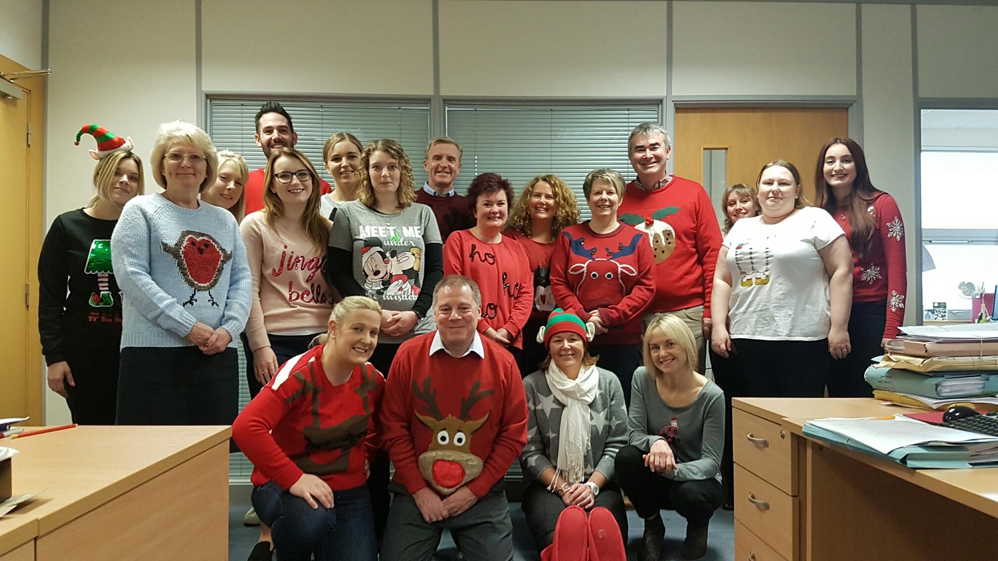 Christmas Jumper Day at Newtons Solicitors Knaresborough Office