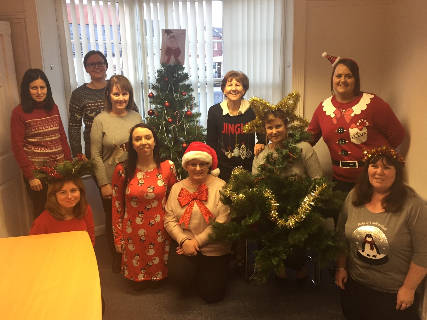 Christmas Jumper Day at the Newtons Solicitors Stokesley Office