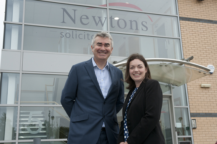 Chris Newton and Sophie Barton of Newtons Solicitors