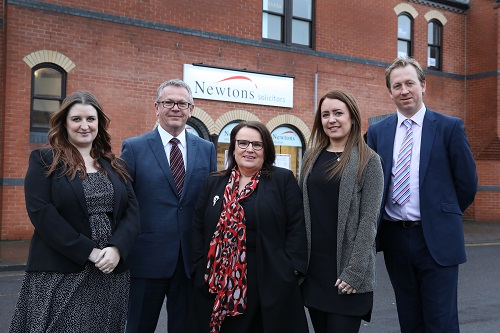 Taken: 23rd January 2018  Newtons Solicitors have just opened in Stockton. L/R Chloe Lawson, Rory Gibson, Jackie Howard, Katie Gibson and Andrew Cawkwell.  Photographer/Byline Dave Charnley Photography  www.davecharnleyphotography.com