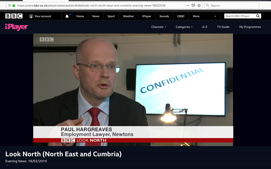Paul Hargreaves of Newtons Solicitors on BBC Look North