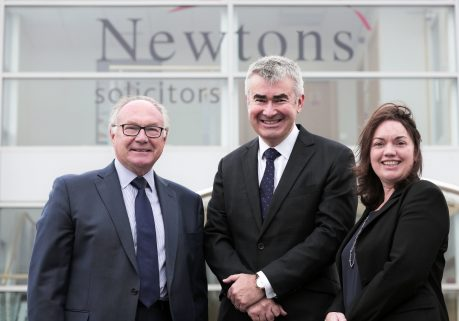 Chris Newton, Sophie Barton and Roy Cusworth a Newtons Solicitors