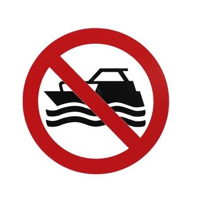 No Boats Symbol
