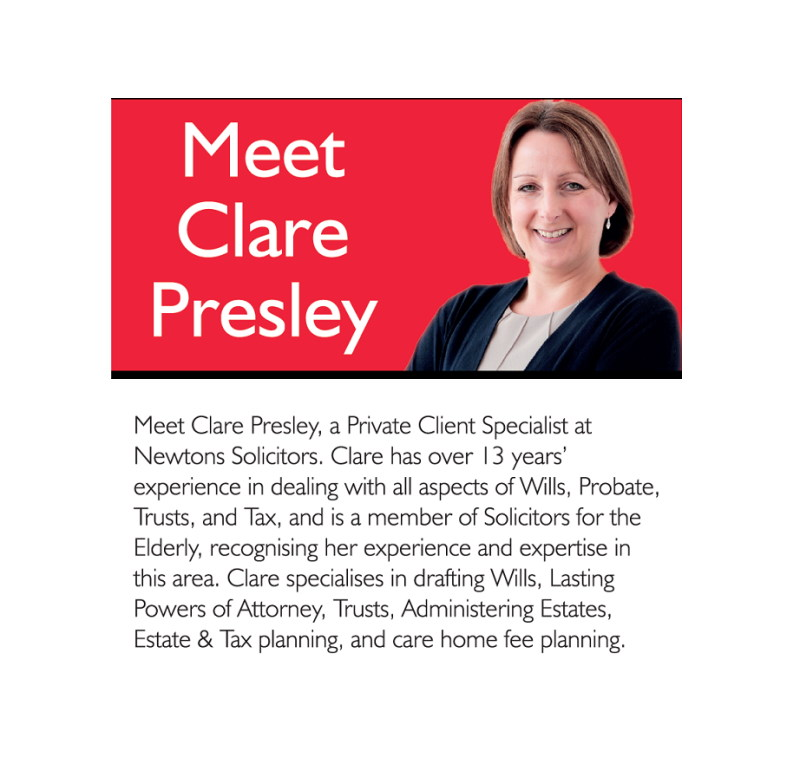 Clare Presley Private Client Specialist at Newtons Solicitors